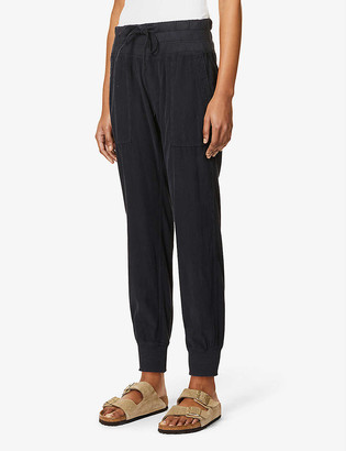 James Perse Mixed Media relaxed-fit mid-rise cotton-corduroy trousers
