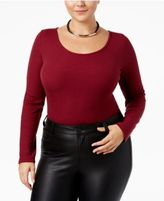 ING Trendy Plus Size Scoop-Back Bodysuit