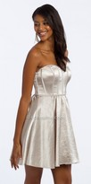 Camille La Vie Satin Piping Fit And Flare Cocktail Dress