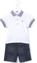 Armani Junior polo shirt and shorts - kids - Cotton - 12 mth