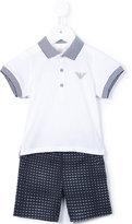 Armani Junior polo shirt and shorts - kids - Cotton - 12 mth