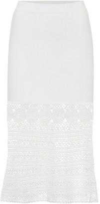 Jonathan Simkhai Crocheted cotton-blend midi skirt