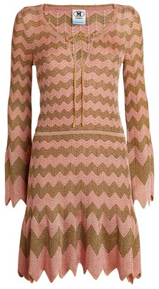 M Missoni Long-Sleeved Zigzag Mini Dress
