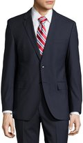 HUGO BOSS James/Sharp Striped Modern-Fit Suit, Dark Blue