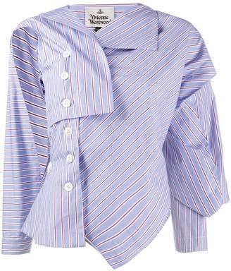 Vivienne Westwood Asymmetric Striped Shirt