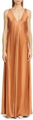 Co Silk Satin Maxi Dress