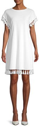Lea & Viola Tassel-Trimmed T-Shirt Dress