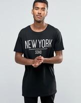 Brave Soul Long Line New York T-Shirt
