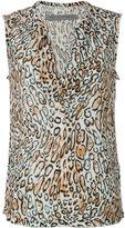 Raquel Allegra leopard print tank - women - Silk - 0