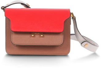 Marni Trunk Mini Leather Cross-body Bag - Orange Multi
