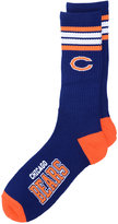 For Bare Feet Chicago Bears 4 Stripe Deuce Crew 504 Sock