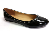 Black Stud Ballet Flats
