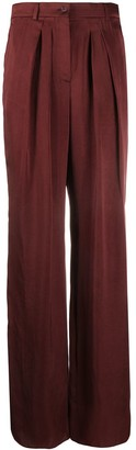 Rochas Satin Palazzo Trousers