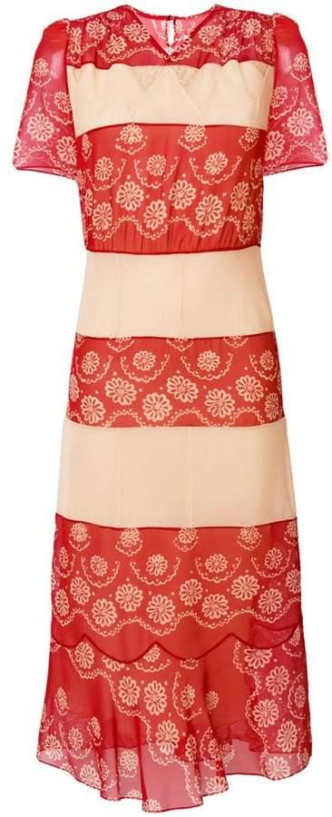 Maison Margiela floral embroidered midi dress