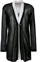 Fay layered semi-sheer cardigan - women - Silk/Cotton/Polyester/Viscose - S
