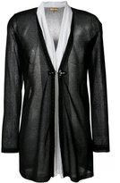 Fay layered semi-sheer cardigan