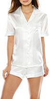 INTIMO DONATELLA Intimo Donatella Bride Satin Short-Sleeve Shirt and Shorts Pajama Set
