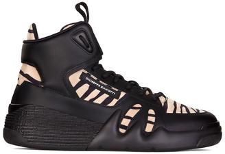 Giuseppe Zanotti High Top Animal Print Sneakers