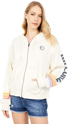 Rip Curl Golden State Zip-Up Hoodie (Navy) Women's Clothing