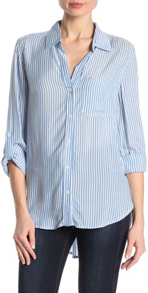 Velvet Heart Striped Hi-Lo Button Down Shirt