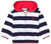 Ralph Lauren Navy and White Stripe Hoody