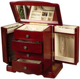 Asstd National Brand Mele & Co. Harmony Cherry-Finish Musical Jewelry Box