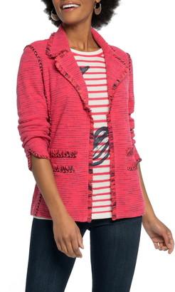 Nic+Zoe Suite Knit Linen Blend Blazer