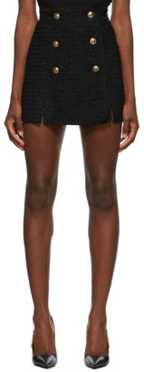 Versace Jeans Couture Black Tweed Miniskirt