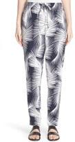 St. John Women's Sport Collection Palm Print Stretch Silk Pants