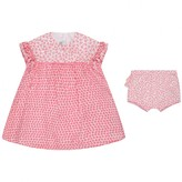 Absorba AbsorbaBaby Girls Fuchsia Floral Dress With Knickers