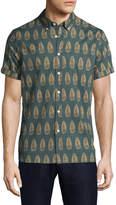 Jachs Men's Printed Short Sleeve Sportshirt