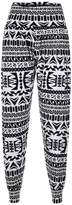 Forever Womens Leopard Army Tartan Print Viscose Harem Trousers