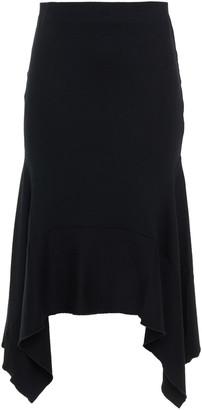 Ninety Percent Asymmetric Ribbed Organic Cotton-blend Jersey Skirt