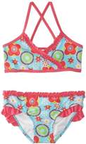 Playshoes Girls Sun Protection Flower Bikini