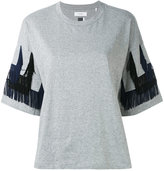 Facetasm fringed trim T-shirt - women - Cotton/Rayon - 1