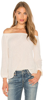 Velvet by Graham & Spencer Zinnia Off The Shoulder Long Sleeve Top