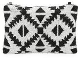 Franchi Beaded Geometric Clutch