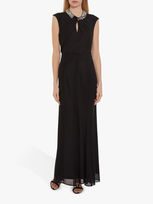 Gina Bacconi Ezra Stretch Mesh Maxi Dress