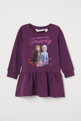 H&M Printed Sweatshirt Dress