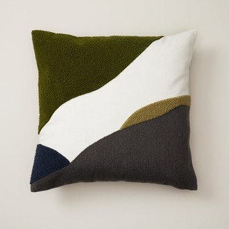 """Oui Abstract Pillow Cover Wild Olive 18"""" X 18"""""""