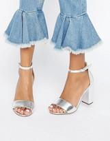 Boohoo Metallic Two Part Heeled Sandal