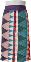 Missoni lurex print pencil skirt