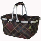 Asstd National Brand JanetBasket Vintage Large Aluminum-Frame Basket