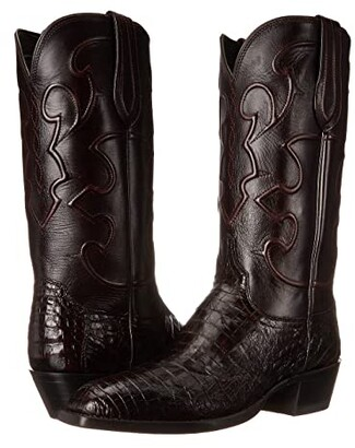 Lucchese Charles (Black Cherry) Cowboy Boots