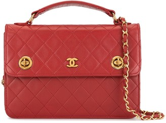 Chanel Pre Owned 1985-1993 Diamond Quilted Turn-Lock Briefcase
