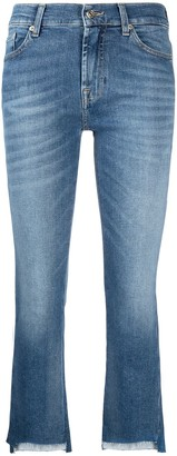 7 For All Mankind Cropped Denim Jeans