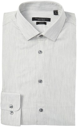 John Varvatos Melange Slim Fit Dress Shirt
