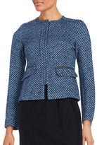 Helene Berman Tweed Zip-Front Jacket