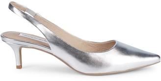 Saks Fifth Avenue Daria Leather Kitten Heel Slingback Pumps
