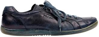 Prada Navy Leather Lace ups